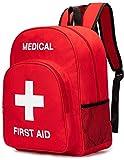 DYHQQ Bolsa roja de Primeros Auxilios Mochila de Primeros Auxilios vacía Bolsa de Almacenamiento médica vacía para botiquines de Primeros Auxilios Paquete de Emergencia Senderismo Mochila