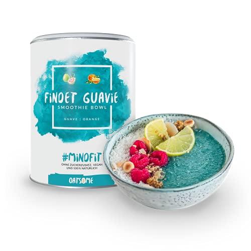 Oatsome Smoothie Bowl Guave & Orange - Frühstück Pulver für vegane Ernährung - 1min Zubereitung - 100% natürlich, ohne Zusatzstoffe und raffinierten Zucker (Findet Guavie, 400g)