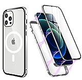 iPhone 12/12 Proケース 両面強化ガラス 磁気吸着 マグネット式 アイフォン 12/12 Proケースバ……