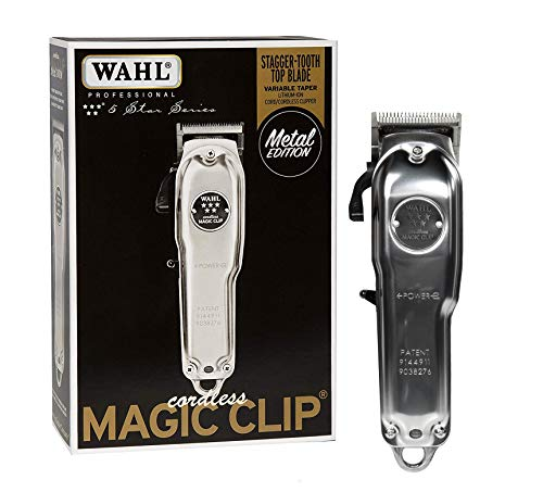 Wahl Professional 5-Star Cordless Magic Clip Metal Edition #8509 - Great for Barbers & Stylists