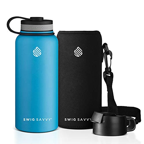 Stainless Steel Water Bottle - Vacuum Insulated &...