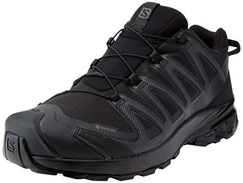 Salomon XA Pro 3D V8 GTX, Zapatillas De Trail Running Y Sanderismo Impermeables Versión Màs Ligera Hombre, Color: Negro (Black/Black/Black), 43 1/3 EU