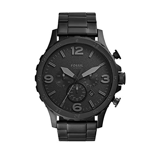 Fossil Men's Nate Quartz Stainless Chronograph Watch, Color:...