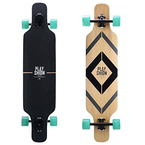 Playshion 39' Longboard Drop-Through Freestyle Skateboard Cruiser