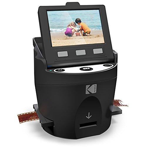 Kodak Digitaler Film-Scanner, Konverter 35 mm, 126, 110, Super 8 und 8 mm Film, Negative und Slides to JPEG inklusive großer Tilt Up 3,5 LCD und EasyLoad Film Einsätze