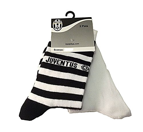 PLANETEX Calze Juve Bambino Ragazzo 2 paia Juventus abbigliamento squadre *01887-23/28
