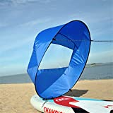 Sdoveb 44' Wind Sail, Foldable Kayak Sail Downwind Wind Paddle, for Kayaks, Canoes, Inflatable Boats, Paddle Board (Blue)