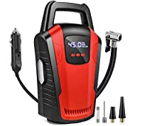 Warranty:Product Have 1 Year* Warranty Register your warranty within 10 days of Purchase || Warranty Activation is Mandatory ♛STRONG POWER & FAST INFLATING - Portable air compressor tire inflator is powered via vehicle's power outlet (Only support 12...