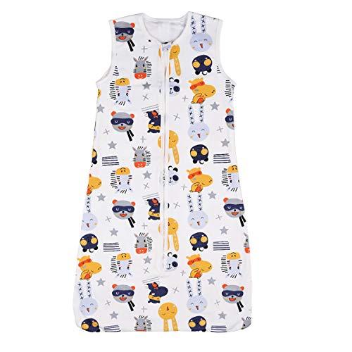 Nabance Babyschlafsack 0.5 Tog Schlafsack Baby aus atmungsaktiver Baumwolle leichter Schlafsack Einstellbar für Sommer Größe:90-110cm für 18-36 Monaten