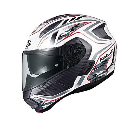 オージーケーカブト(OGK KABUTO)バイクヘルメット システム RYUKI ENERGY(エナジー) ホワイトレッド (サイズ:S)