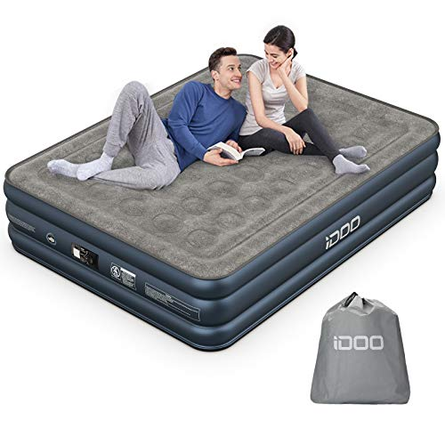 iDOO Air Mattress, Inflatable Airbed with Built-in Pump, 3 Mins Quick Self-Inflation/Deflation,...