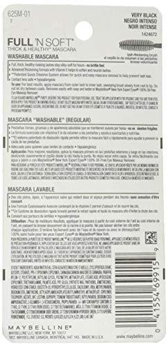 Product Image 3: Maybelline Full 'N Soft Washable Mascara, Very Black, 1 Tube