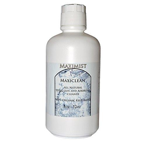 MaxiClean Organic and Natural Airbrush Spray Tanning Spray Gun and Equipment Cleaner 64 oz (2x32oz)
