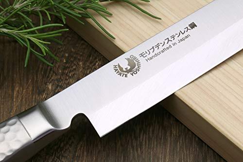 Product Image 4: Yoshihiro Hayate Inox Aus-8 Yanagi Sushi Sashimi Japanese Chef Knife Integrated Stainless Handle (9.5'' (240mm))