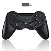 connection: usb dongle 2.0 high speed (wireless), vibration effects through dual vibration function (rumble effect) ensures even more realistic gaming environment. easy installation through dongle plug & play, ergonomic shape/compact design, light we...