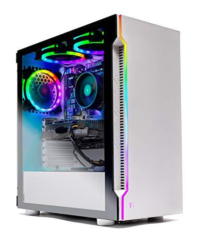Skytech Archangel Gaming Computer PC Desktop – Ryzen 5 3600 3.6GHz, GTX 1660 Super 6G, 500GB SSD, 16GB DDR4 3000MHz, RGB Fans, Windows 10 Home 64-bit, 802.11AC Wi-Fi