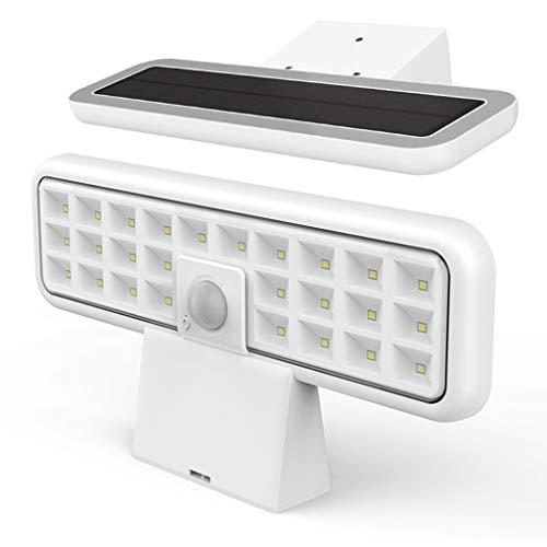 ESTEAR Sensore di Movimento per Luci Solari da Esterno, Luci da Parete Esterne di Sicurezza Ad Energia Solare da 26 LED, Illuminazione Impermeabile IP65 per Cortile da Giardino con Patio
