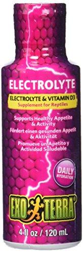 Exo Terra Electrolyte & Vitamine D3 - Ergänzungsfutter fur Reptilien 120ml
