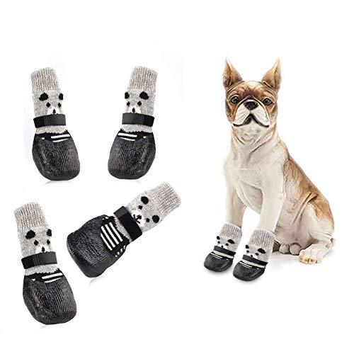 Toulifly Calzini per Cani,Protettori Zampe Cane,Calze per Cani Antiscivolo,Dog Socks,Dog Shoes,Dog...