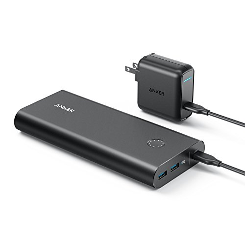 Anker PowerCore+ 26800 PD with 30W Power Delivery Charger, Portable Charger Bundle for MacBook Air / iPad Pro 2018, iPhone 11 / 11 Pro / 11 Pro Max / XS / X, S10, and USB C Laptops with Power Delivery