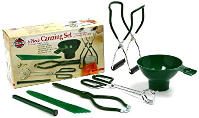 A must have for the canning enthusiast and begginer alike! Six essential tools for canning and dehydrating. Conveniently all in one box! Capture summer fruit and vegetables at their prime for enjoyment throughout the year by canning at home. Includes...