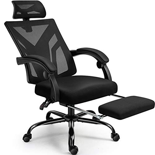 Office Chair, Cadcah Ergonomic Home Office Desk Chair Mesh Office Chair with Footrest Adjustable...