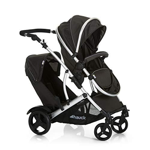 Hauck Duett Duo Kinderwagen | Vanaf de geboorte | Verstelbare rugleuning en voetensteun | Afneembaar tweede zitje | 5-punts gordelsysteem | Inclusief 2 regenhoezen