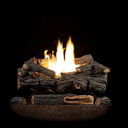 Sure Heat RS24VFTLP Vent Free Dual Burner Log Set for Liquid Propane Fueled Fireplace, 24', Riverside Oak