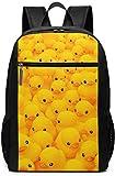 TTmom Mochilas Tipo Casual,Bolsa de Viaje Cute Rubber Duck Backpack Laptop Backpack School Bag Travel Backpack 17 Inch