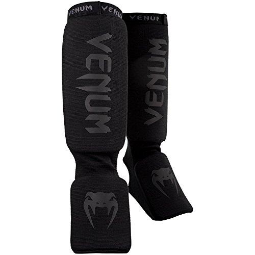 Venum Kontact Protège-Tibia Mixte Adulte, Noir, Taille Unique
