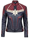 LeatherGrabs Avengers Endgame Captain Marvel Veste pour Femmes en Faux Cuir...