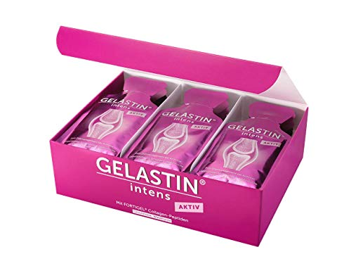 GELASTIN intens Aktiv Gel zur Einnahme bei Arthrose und Gelenkschmerzen (bilanzierte Diät), 1-Monatspackung, 30 kleine Portionsbeutel perfekt für Unterwegs