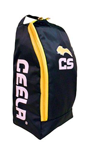 Ceela Sports CS-TB- Polyester Sports Training Shoe Bag (Black/Yellow)