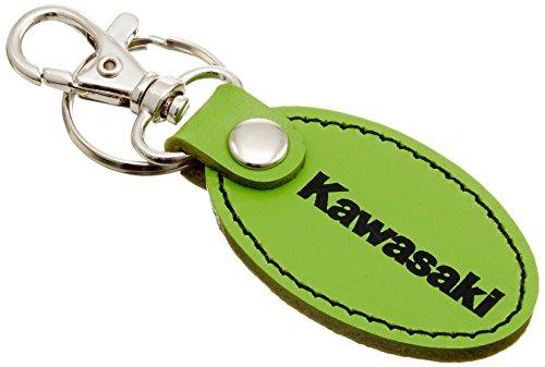 KAWASAKI (カワサキ純正アクセサリー) カワサキオーバルレザーキーホルダーG J70020146