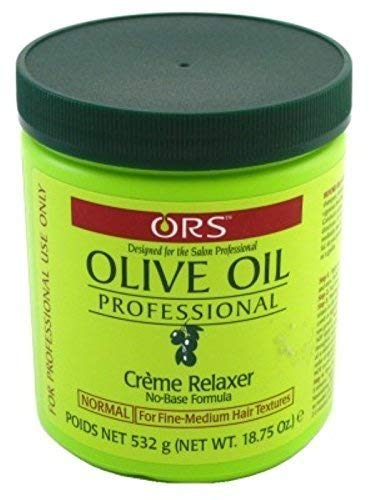 Ors Olive Oil Creme Relaxer Normal 18.75 Ounce Jar (555ml) (3 Pack)