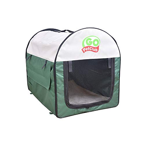 Go Pet Club Soft Crate for Pets, 24-Inch, Green