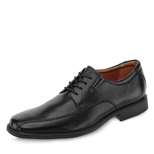Clarks Tilden Walk, Zapatos de Cordones Derby Hombre, Negro (Black Leather-), 45 EU
