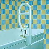 Homecraft Sturdy Bath Tub Grab Bar, Clamp On Rail for Bathtub, Elderly Living Assist...