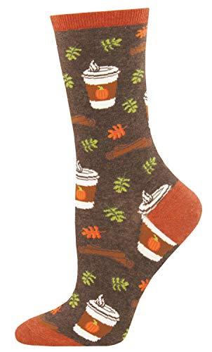 Socksmith - Calzini da donna con motivo zucca per ravvivare la tua vita - marrone - taglia unica