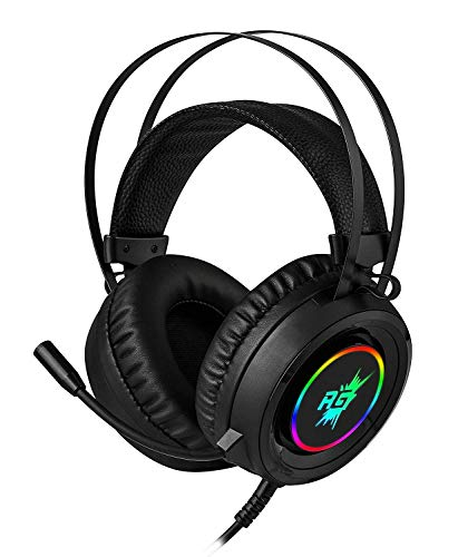 Redgear Cloak Wired RGB Gaming Headphones with Microphone for PC