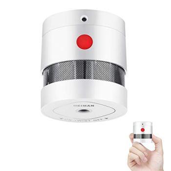 Détecteur de fumée HEIMAN Mini Détecteur d'incendie avec 10 Ans d'autonomie Détecteur de fumée certifié EN14604 avec Alarme Incendie et capteur photoélectrique (1)