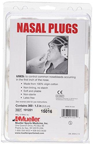 Mueller Nasal Plugs - 300 pack (PAC)
