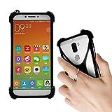 Lankashi Black Stand Ring Holder Soft Silicone Phone Case Cover for Unimax UMX U683CL Ans Ul40 UL50 L50 u452tl U683CL U504TL U673c / Orbic Wonder Factory 5.5 Verizon Prepaid/Hot Pepper Poblano VLE5