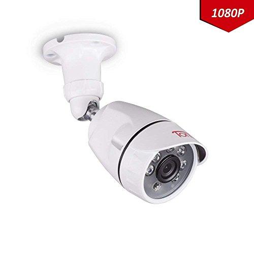 Telecamera di sorveglianza Tonton 1080P, Custodia in metallo IP67 da 2,0 MP, visione notturna 20 M, angolo di visione a 85 °,impermeabile per TVI/AHD/Registratore di cassa in metallo 5 in 1/4 in 1