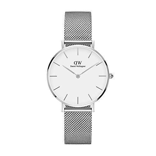 Daniel Wellington Petite Sterling, Silber Uhr, 32mm, Mesh, für Damen