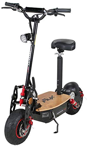 eFlux Freeride Pro Elektroroller Scooter - 1600 Watt Motor - Scheibenbremsen - LED Scheinwerfer - Bis zu 35 km/h (Freeride Pro)
