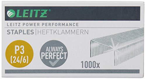 Leitz Punti Power Performance P3 (24/6), Acciaio galvanizzato, Confezione da 1000 punti per cucitrici, 55700000