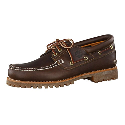 Timberland Authentics 3 Eye Classic, Náuticos para Hombre, Marrón MD Brown Full Grain, 44 EU