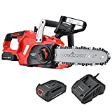 PowerSmart Chainsaw, 10-Inch 20V Cordless Chainsaw, Power Chainsaw, Electric Chainsaw Battery Powered, 20V Battery & Fast Charger Included, PS76120A