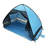 Large Pop up Beach Tent Automatic Sun Shelter Outdoor Anti UV Sun Shelter Tents Instant Portable Blue